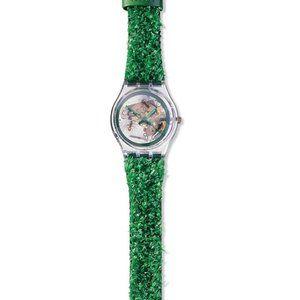 SKZ103 Swatch 1997 Garden Turf  Ladies Wrist Watch